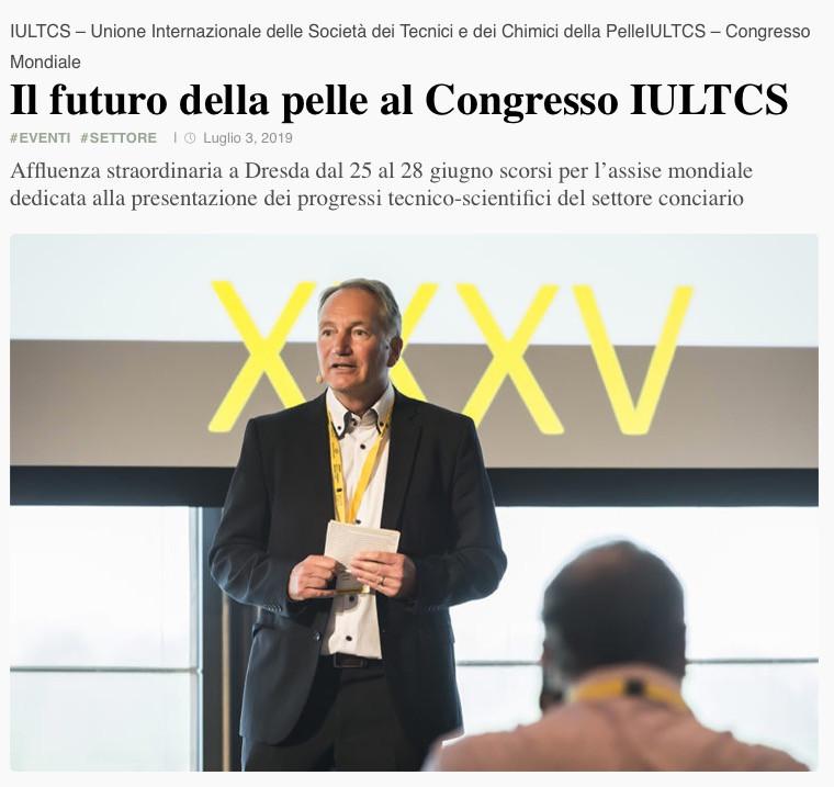 Il futuro della pelle al Congresso IULTS 2019