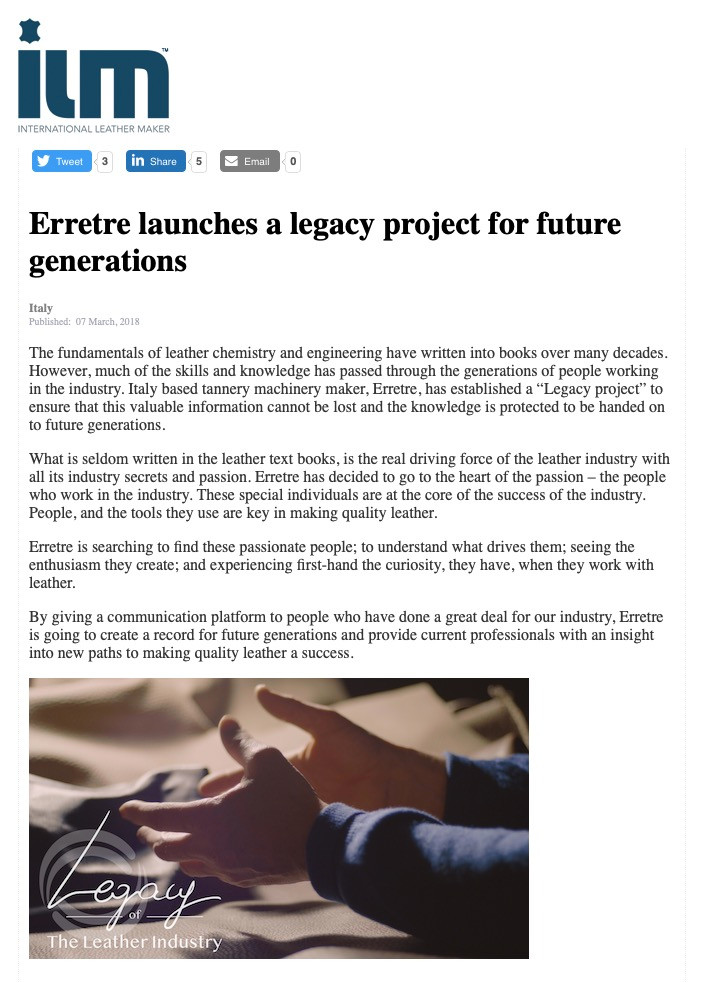 Erretre launches a legacy project for future generations