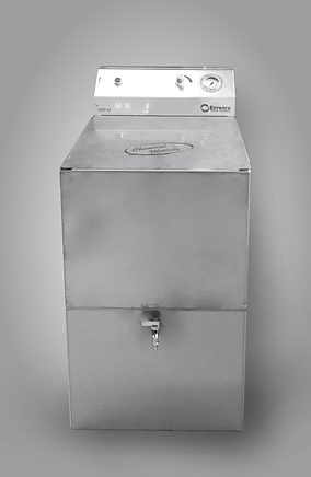Erretre Chemical Dosing Unit: a stainless stee tank for dosing chemical products with the Chemical Milling patented method.