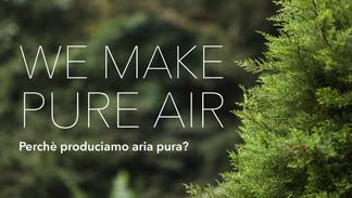 We Make Pure Air: la nostra mission aziendale per un futuro migliore.