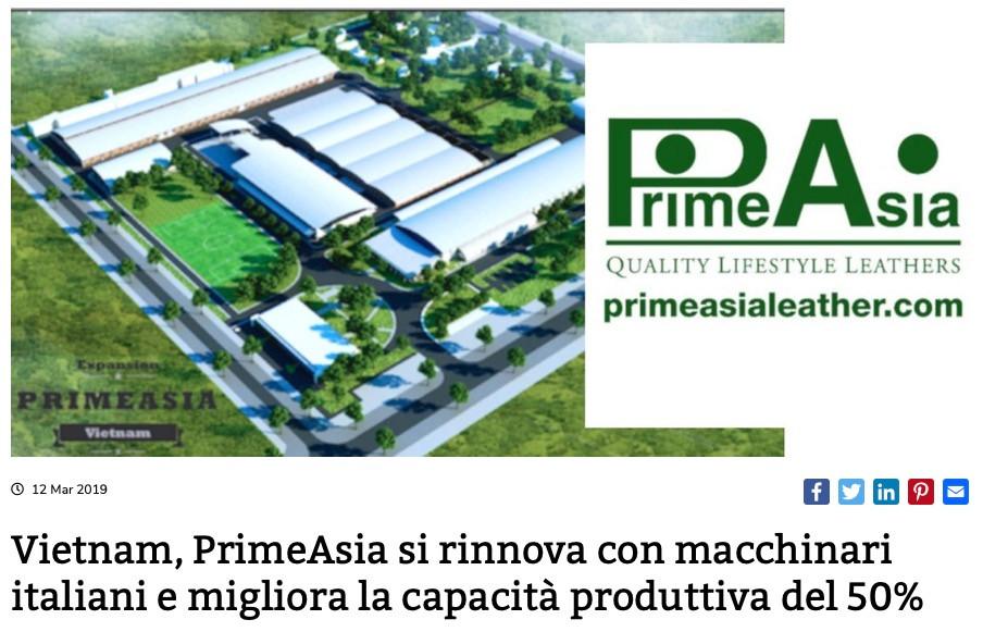 Vietnam, PrimeAsia si rinnova con macchinari italiani e migliora la capacità produttiva del 50%