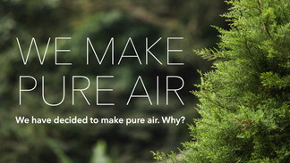 We Make Pure Air: our corporate mission for a better future.