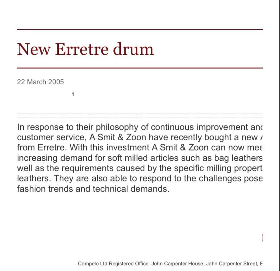 New Erretre drum