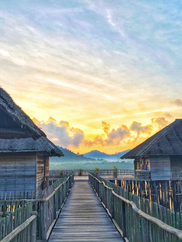 Sunrise at Telunas