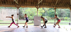 Morning HIIT in the outdoor pavillion