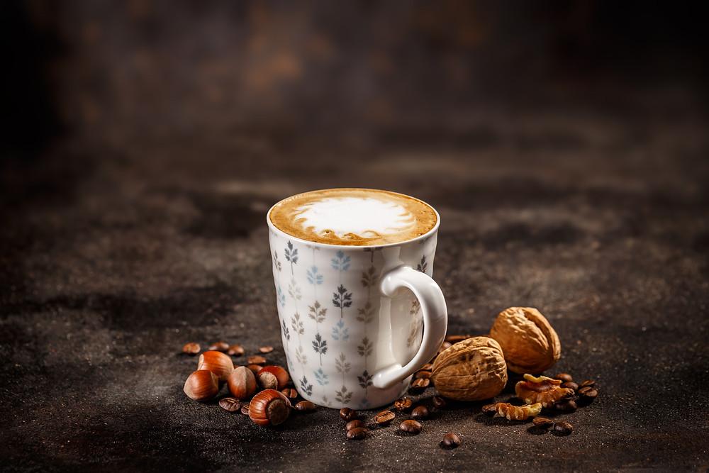 Hazelnut and Walnut Latte