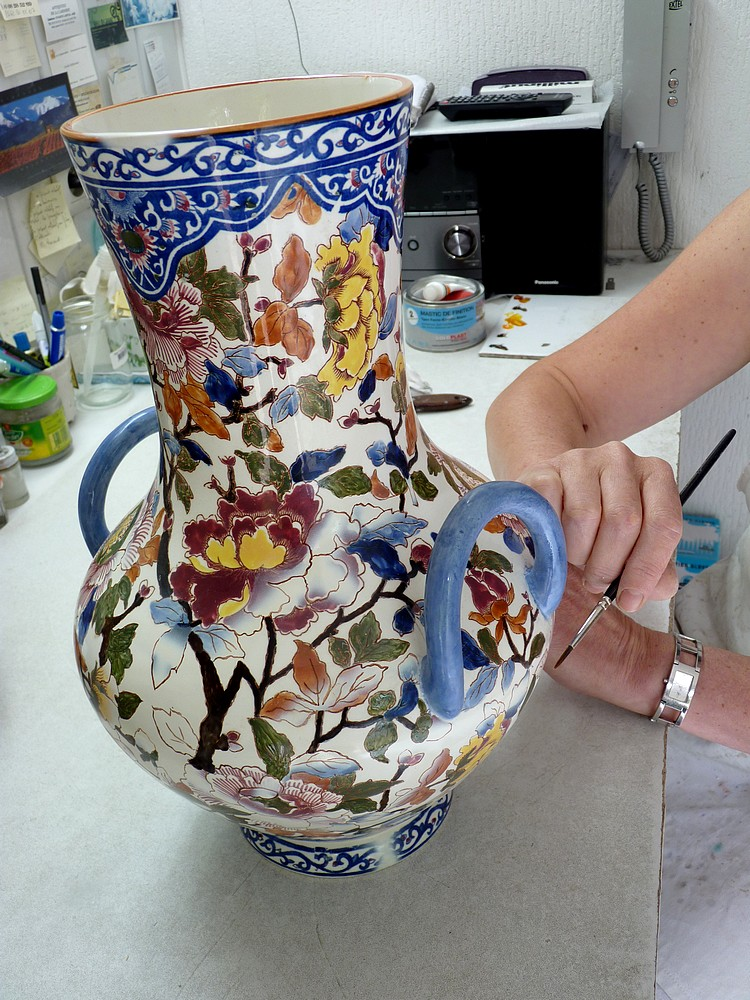Réfection d'un vase