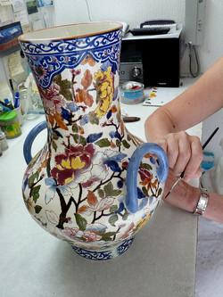 Réfection d'un vase