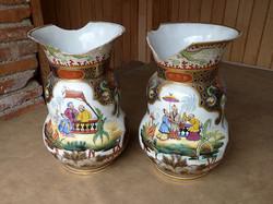 2 vases en porcelaine de Bayeux