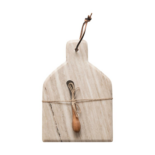 Marble Cheese Cutting Board w/ Canapé Knife