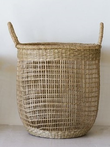 LG Woven Natural Seagrass Basket
