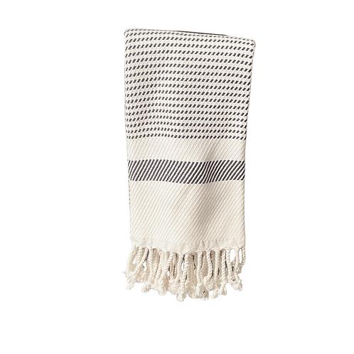 Grey and White Stripe Turkish Dish Towel
