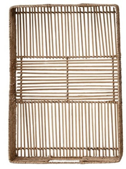 LG Woven Bamboo and Jute Tray