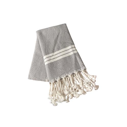 Grey Turkish Handmade Dish Towel