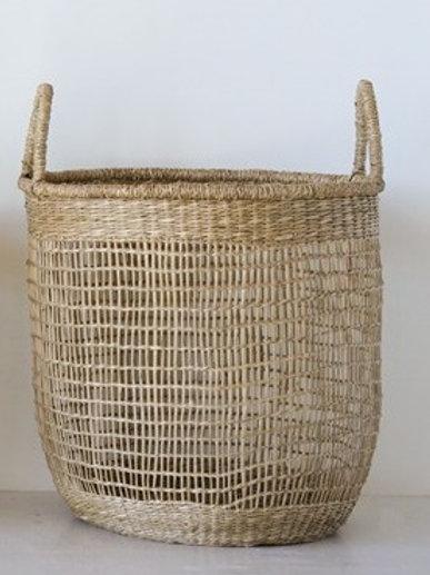 XL Woven Natural Seagrass Basket