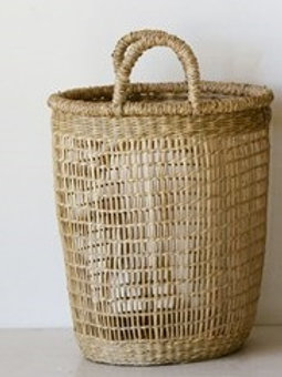 SM Woven Natural Seagrass Basket