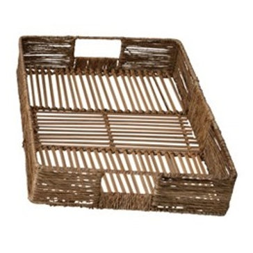 SM Woven Bamboo and Jute Tray