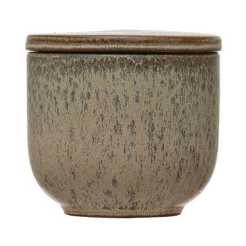 Stoneware Jar w/ Lid