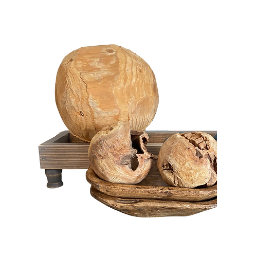 Large Wooden Orb