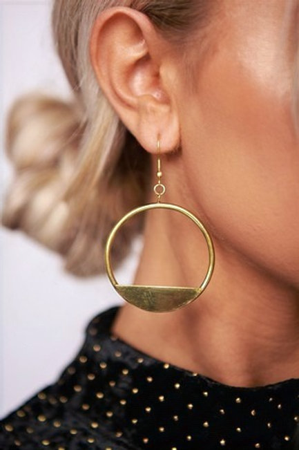 ANTIQUE GOLD HOOP