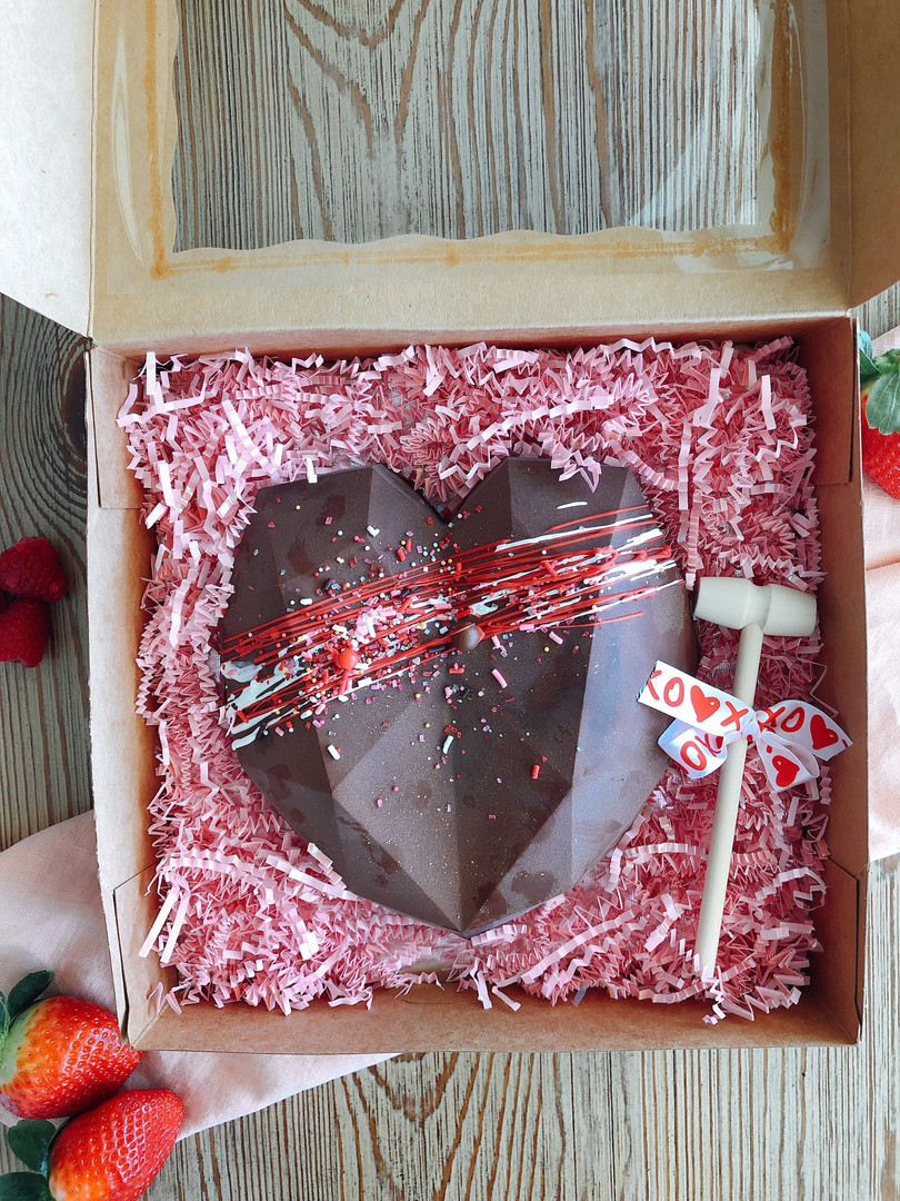 Pinata Heart Cake