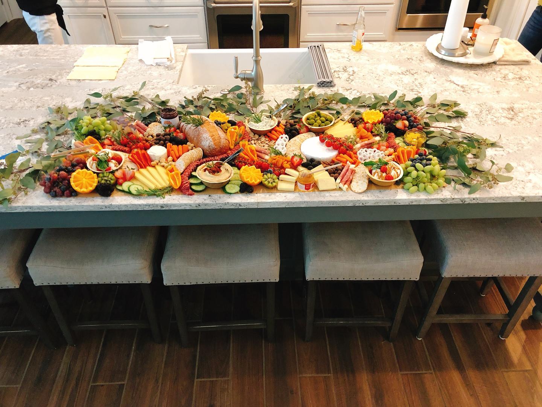 Kitchen Island Grazing Table