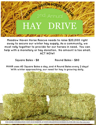 2nd Annual Hay Drive!