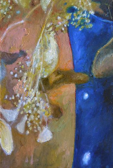 Fiori secchi (vaso blu)