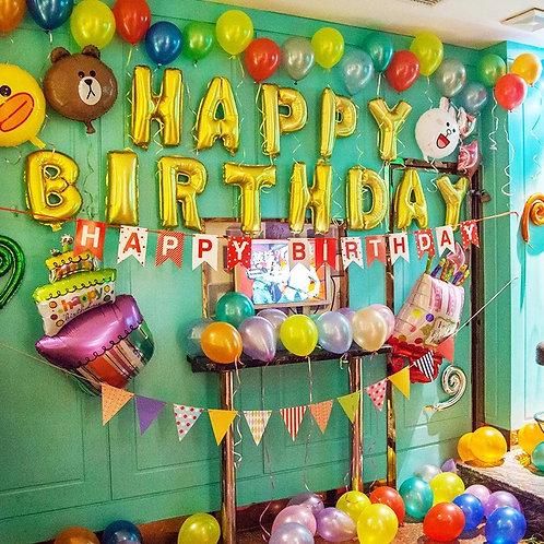 Line friends生日氣球套餐