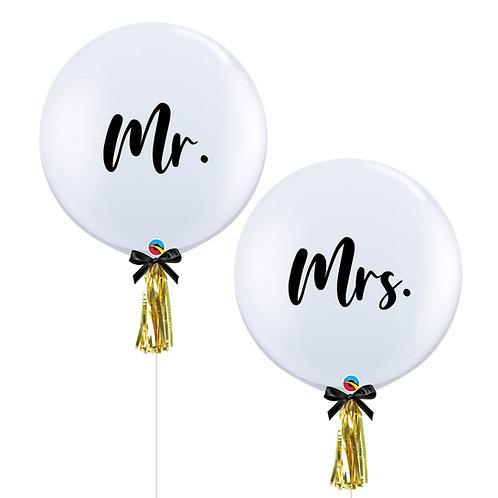 "36"" Mr and Mrs Helium Balloon Set"