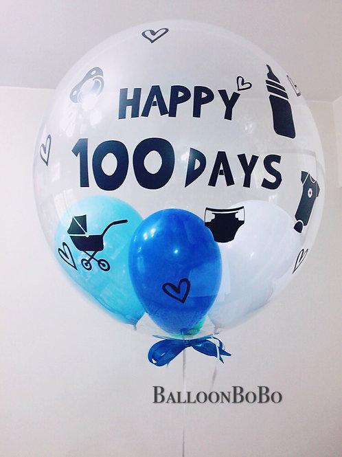 百日宴水晶氣球