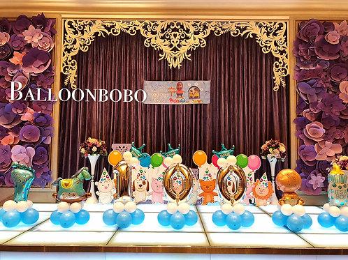 BB百日宴座地氣球套餐