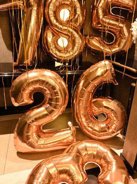 40吋數字氦氣球