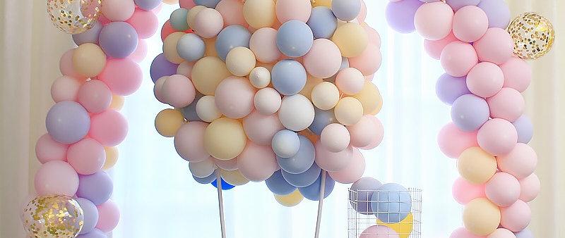 馬卡龍色系拱門套餐Latex Macaron balloon arch & hot air balloon