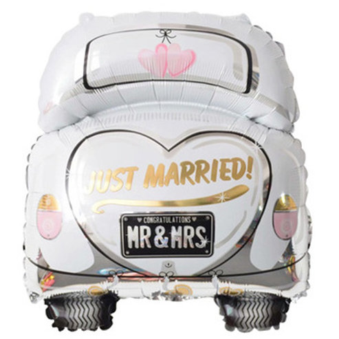 Just married婚車氣球