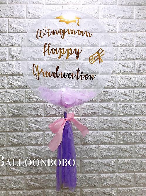 亮金Message水晶氣球