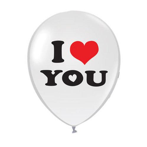 I love you 圓形氦氣球