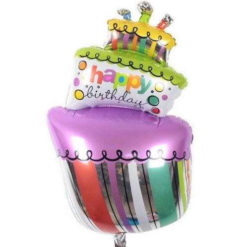 歪蛋糕生日氣球