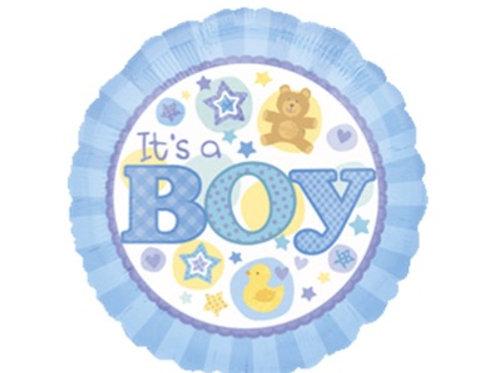 18吋Baby Boy圓形氦氣球