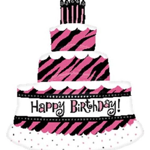 紫色蛋糕氦氣球