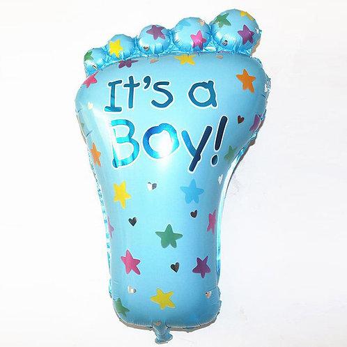 淺藍腳板BB百日宴氣球
