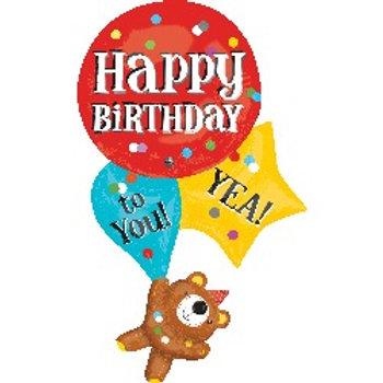 生日小熊氦氣球