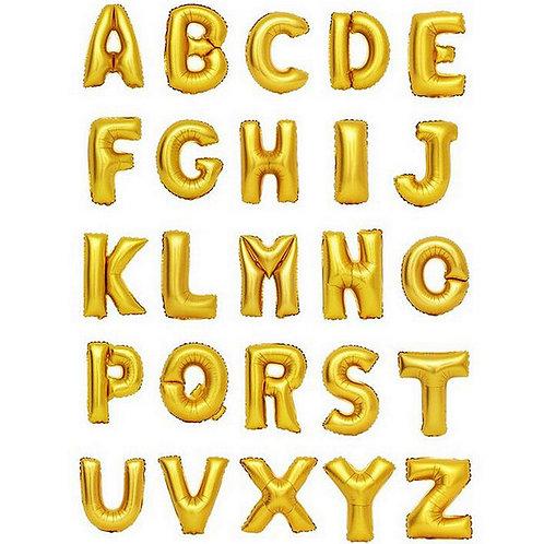 14吋金色英文字母氣球Letter Balloons