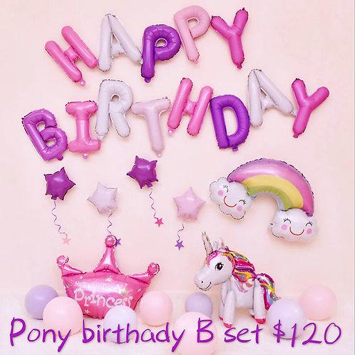 Pony小馬Happy birthday set