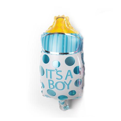 淺藍奶樽BB百日宴氣球