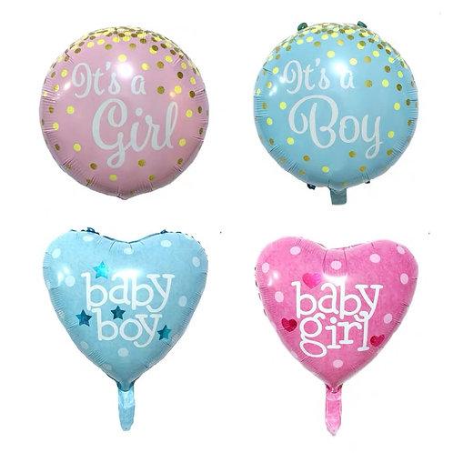 18吋粉紅粉藍BABY氣球