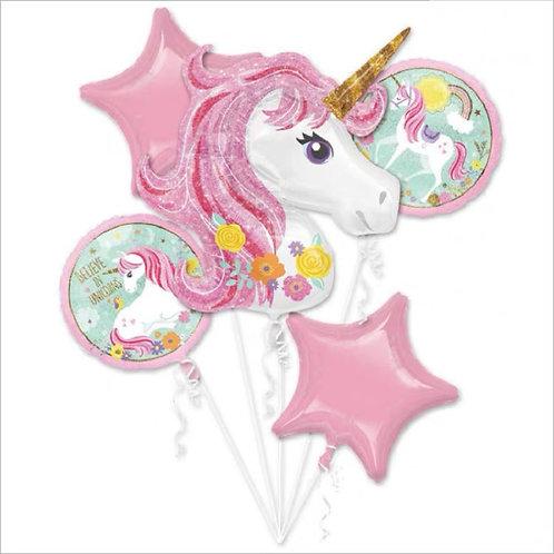 Unicorn helium balloons獨角獸氦氣球束