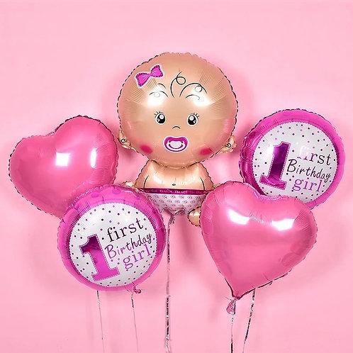 Baby Girl氦氣球套裝