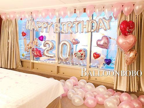 生日數字氣球上門佈置 Age Balloon Set