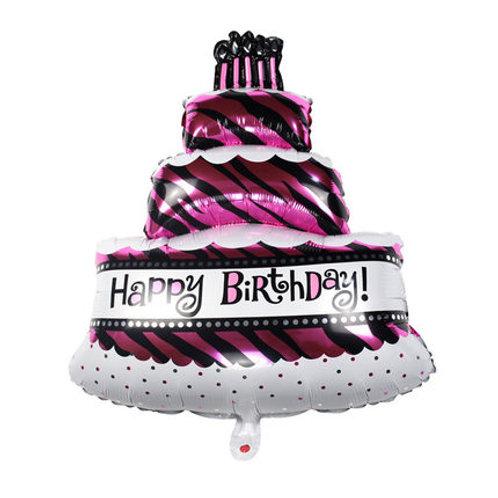 紫色蛋糕生日氣球